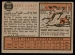 1962 Topps #418  Andy Carey  Back Thumbnail