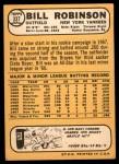 1968 Topps #337 BILL Bill Robinson  Back Thumbnail