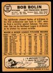1968 Topps #169  Bobby Bolin  Back Thumbnail