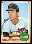 1968 Topps #268  Bob Humphreys  Front Thumbnail