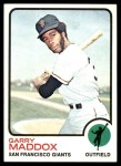 1973 Topps #322  Garry Maddox  Front Thumbnail