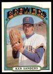 1972 Topps #391  Ken Sanders  Front Thumbnail
