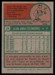 1975 Topps #24  Al Fitzmorris  Back Thumbnail