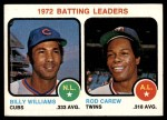 1973 Topps #61   -  Billy Williams / Rod Carew Batting Leaders Front Thumbnail