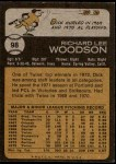 1973 Topps #98  Dick Woodson  Back Thumbnail