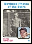 1973 Topps #345   -  Chris Speier  Boyhood Photo Front Thumbnail