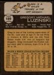 1973 Topps #189  Greg Luzinski  Back Thumbnail