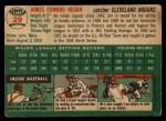 1954 Topps #29  Jim Hegan  Back Thumbnail