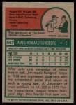1975 Topps #567  Jim Sundberg  Back Thumbnail