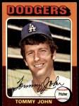 1975 Topps #47  Tommy John  Front Thumbnail
