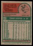1975 Topps #537  Tommy Harper  Back Thumbnail