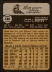 1973 Topps #340  Nate Colbert  Back Thumbnail
