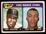 1965 Topps #201   -  Cesar Tovar / Sandy Valdespino Twins Rookies Front Thumbnail