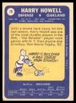 1969 Topps #79  Harry Howell  Back Thumbnail