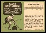 1970 Topps #54  Ralph Backstrom  Back Thumbnail