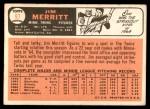 1966 Topps #97  Jim Merritt  Back Thumbnail