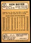 1968 Topps #259  Ken Boyer  Back Thumbnail