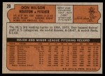 1972 Topps #20  Don Wilson  Back Thumbnail