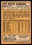 1968 Topps #143  Pete Cimino  Back Thumbnail