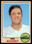 1968 Topps #354  Pete Richert  Front Thumbnail