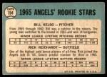 1965 Topps #194   -  Rick Reichardt / Bill Kelso Angels Rookies Back Thumbnail
