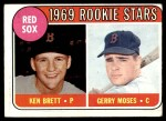 1969 Topps #476 YN  -  Ken Brett / Gerry Moses Red Sox Rookies Front Thumbnail