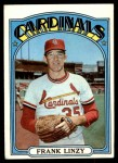 1972 Topps #243  Frank Linzy  Front Thumbnail