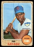 1968 Topps #119  Ted Savage  Front Thumbnail
