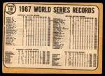 1968 Topps #158   -  Tim McCarver / Dick Hughes World Series Summary - The Cardinals Celebrate! Back Thumbnail
