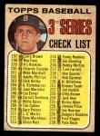 1968 Topps #192 A  -  Carl Yastrzemski Checklist 3 Front Thumbnail