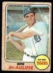 1968 Topps #285  Dick McAuliffe  Front Thumbnail