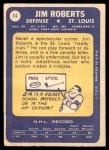 1969 Topps #14  Jim Roberts  Back Thumbnail