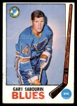 1969 Topps #19  Gary Sabourin  Front Thumbnail