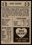 1954 Red Heart  Richie Ashburn  Back Thumbnail
