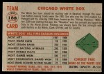 1956 Topps #188   White Sox Team Back Thumbnail