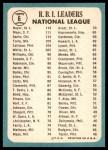 1965 Topps #6   -  Ken Boyer / Willie Mays / Ron Santo NL RBI Leaders Back Thumbnail