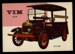 1954 Topps World on Wheels #57   Vim Stage 1916 Front Thumbnail