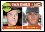 1969 Topps #614   -  Tom Griffin / Skip Guinn Houston Rookies Front Thumbnail