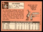 1969 Topps #522  Joe Hoerner  Back Thumbnail