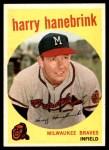 1959 Topps #322 xTR Harry Hanebrink  Front Thumbnail