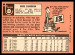 1969 Topps #110  Mike Shannon  Back Thumbnail