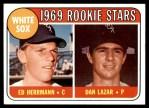 1969 Topps #439   -  Ed Herrmann / Dan Lazar White Sox Rookies Front Thumbnail