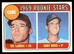 1969 Topps #404   -  Gary Ross / Vic LaRose Cubs Rookies Front Thumbnail