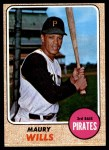 1968 Topps #175  Maury Wills  Front Thumbnail