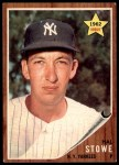 1962 Topps #291  Hal Stowe  Front Thumbnail