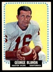 1964 Topps #68  George Blanda  Front Thumbnail