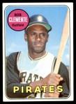 1969 Topps #50  Roberto Clemente  Front Thumbnail