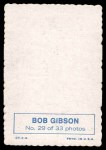 1969 Topps Deckle Edge #29  Bob Gibson  Back Thumbnail
