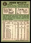 1967 Topps #261  John Wyatt  Back Thumbnail