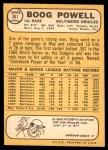 1968 Topps #381  Boog Powell  Back Thumbnail